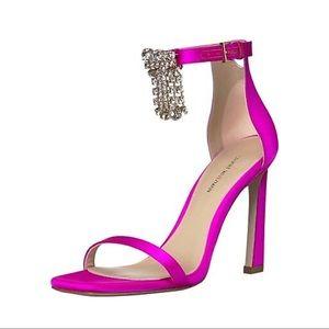 SW Fringe Nudist Crystal Embellished Sandal